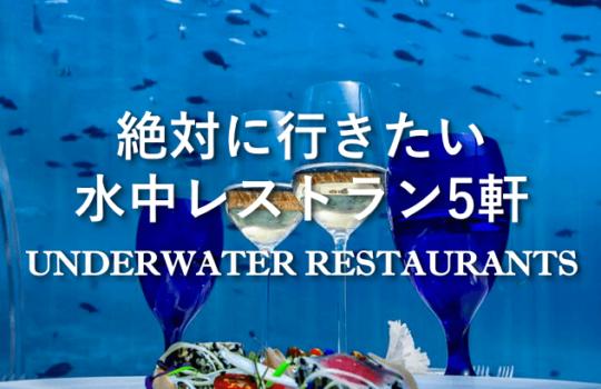 モルディブの水中レストラン